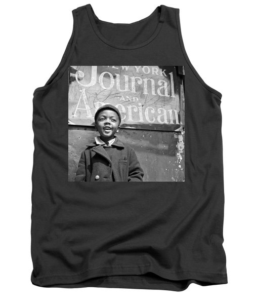 A Young Harlem Newsboy Tank Top by Underwood Archives
