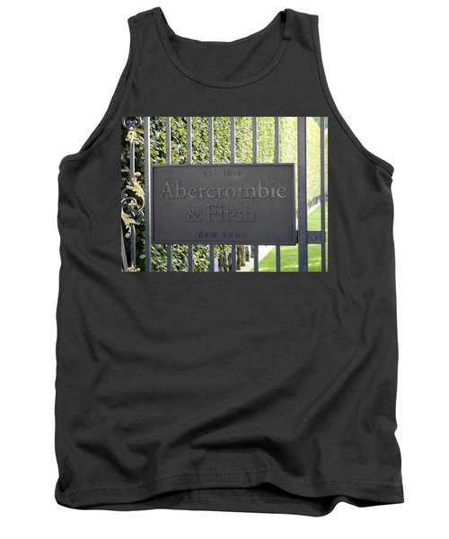 Abercrombie And Fitch Store In Paris France Tank Top by Richard Rosenshein