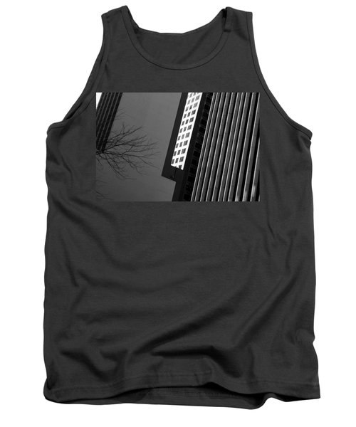Abstract Building Patterns Black White Tank Top