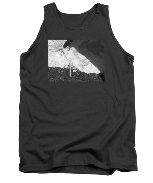 Tank Top featuring the photograph Abstract Of Rock And Shadow by Esther Newman-Cohen