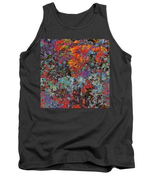 Tank Top featuring the mixed media Abstract Spring by Ally  White