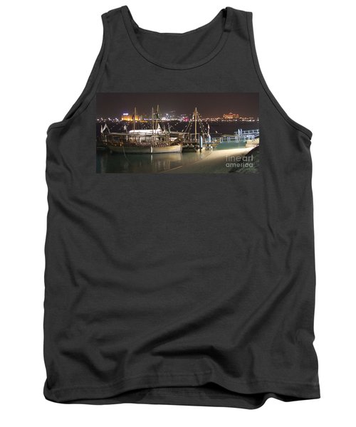 Tank Top featuring the photograph Abu Dhabi At Night by Andrea Anderegg
