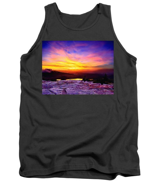 Acadia National Park Cadillac Mountain Sunrise Forsale Tank Top by Bob and Nadine Johnston