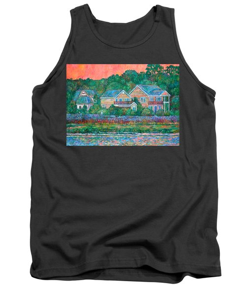 Tank Top featuring the painting Across The Marsh At Pawleys Island       by Kendall Kessler