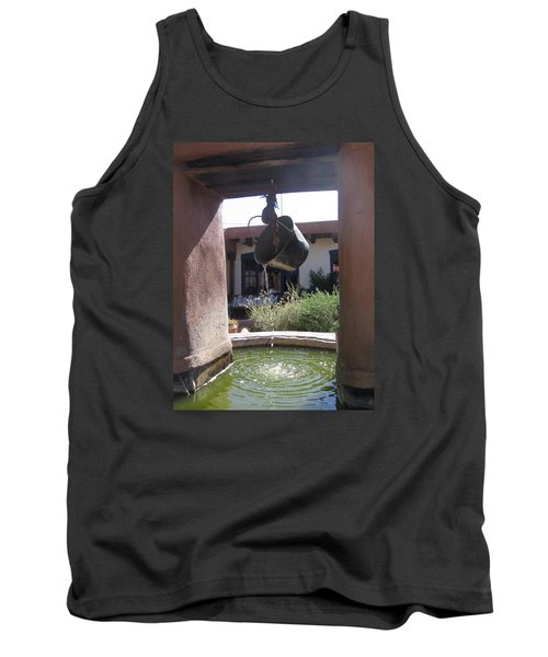 Tank Top featuring the photograph Adobe Water Well In New Mexico by Dora Sofia Caputo Photographic Art and Design