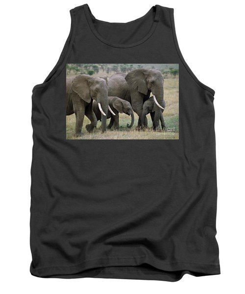 African Elephant Females And Calves Tank Top
