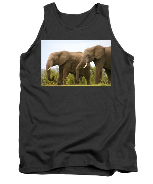 African Elephants Tank Top
