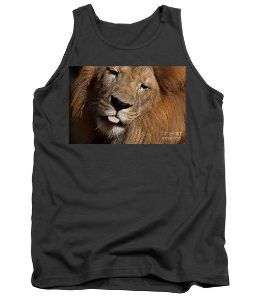 Tank Top featuring the photograph African Lion by Meg Rousher
