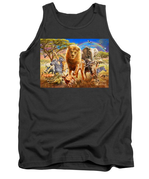 African Stampede Tank Top by Adrian Chesterman