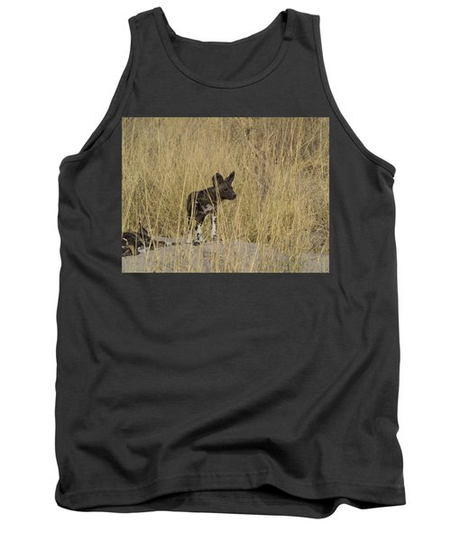 African Wild Dog Lycaon Pictus Puppy Tank Top