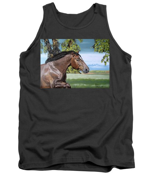Tank Top featuring the painting After The Storm by Leena Pekkalainen