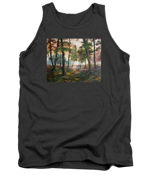 Afternoon Ride Through The Forest Tank Top by Jean Walker