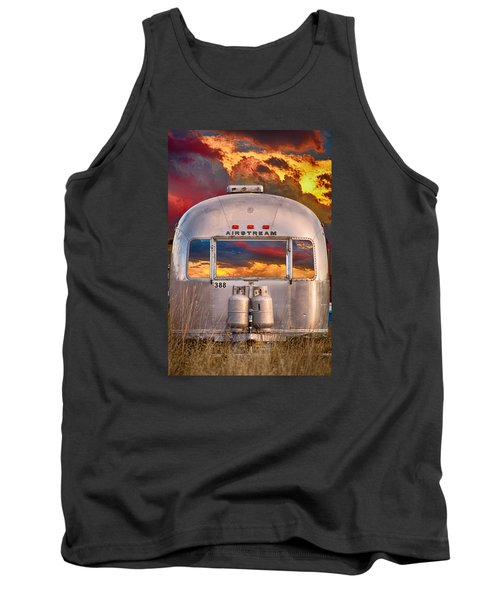 Airstream Travel Trailer Camping Sunset Window View Tank Top by James BO  Insogna