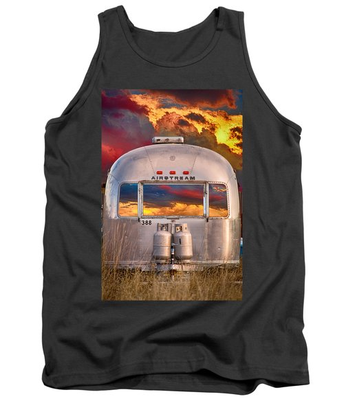 Airstream Travel Trailer Camping Sunset Window View Tank Top