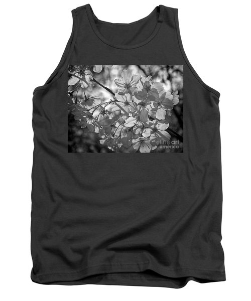 Tank Top featuring the photograph Akebono In Monochrome by Peggy Hughes