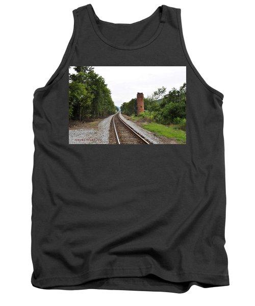 Tank Top featuring the photograph Alabama Tracks by Verana Stark