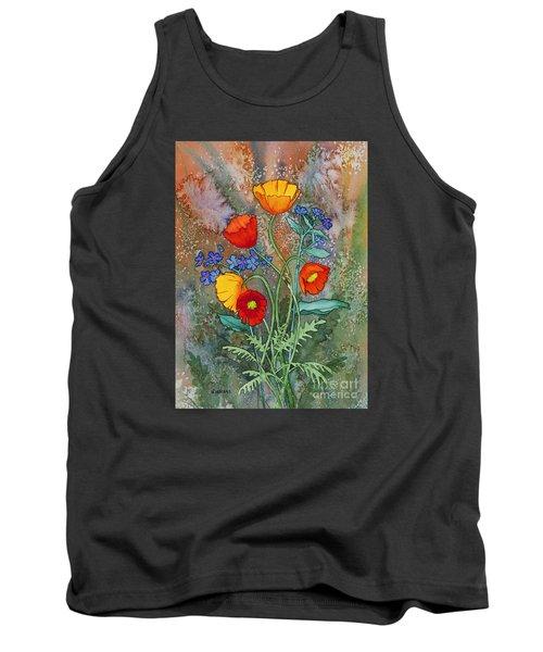 Alaska Poppies And Forgetmenots Tank Top