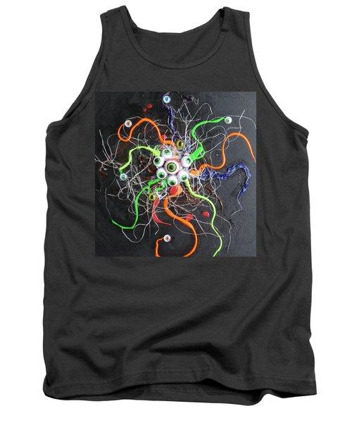 Alien Octopus In Spiderweb Tank Top