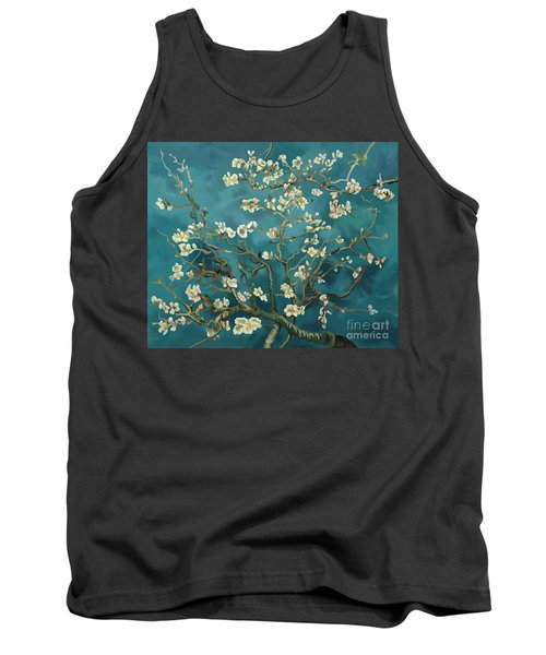 Tank Top featuring the painting Almond Blossoms' Reproduction by Tim Gilliland