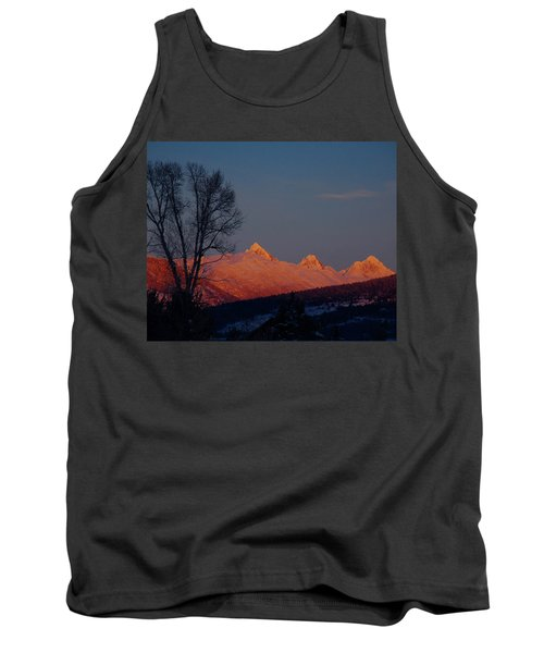 Tank Top featuring the photograph Alpenglow by Raymond Salani III