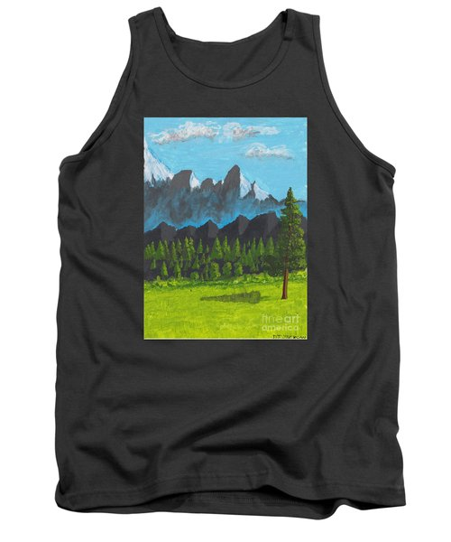 Tank Top featuring the painting Alpine Meadow by David Jackson