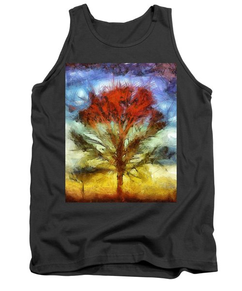 Tank Top featuring the drawing Always Reaching Up by Joe Misrasi