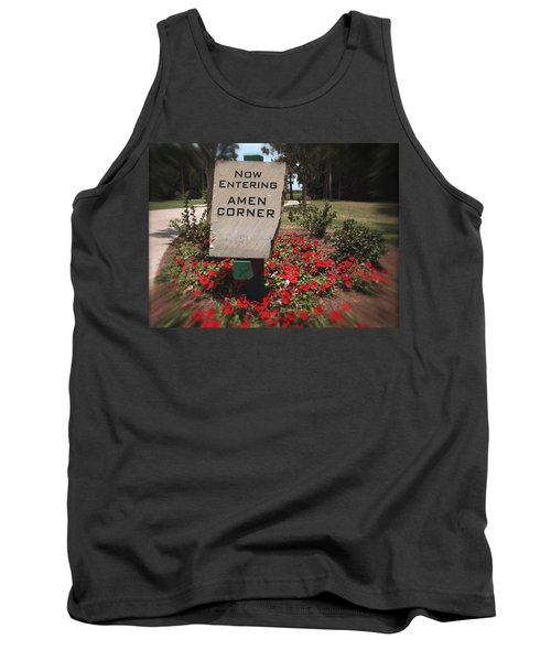 Tank Top featuring the photograph Amen Corner - A Golfers Dream by Ella Kaye Dickey