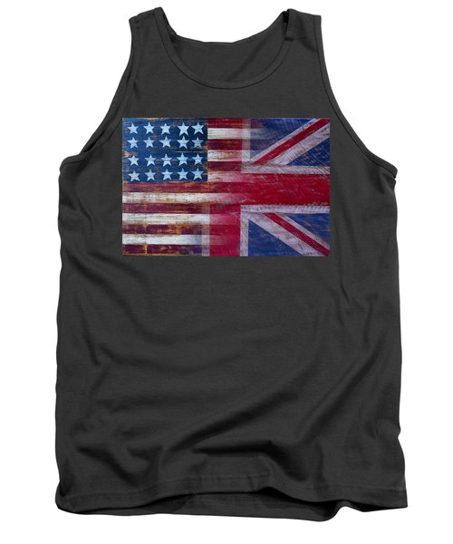 American British Flag 2 Tank Top