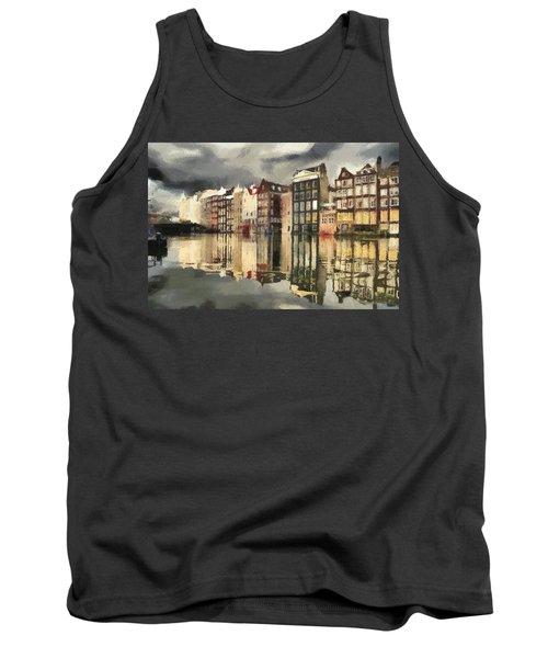 Amsterdam Cloudy Grey Day Tank Top by Georgi Dimitrov