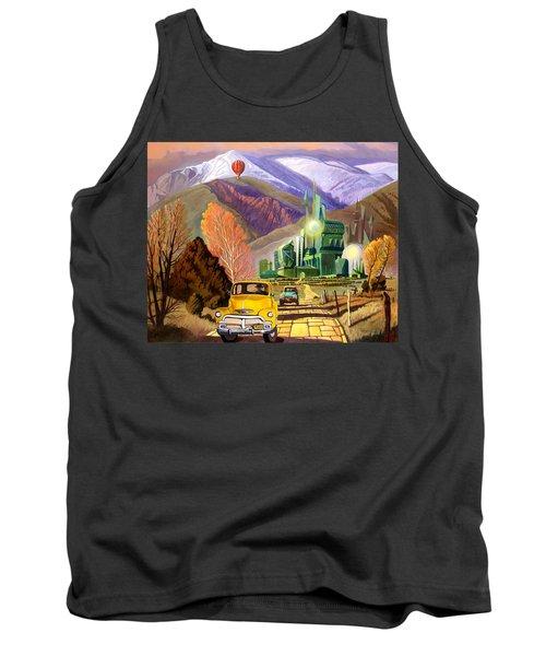 Trucks In Oz Tank Top by Art James West