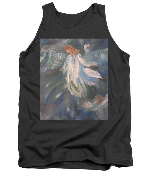 Angels Watching Over Us Tank Top by Christy Saunders Church