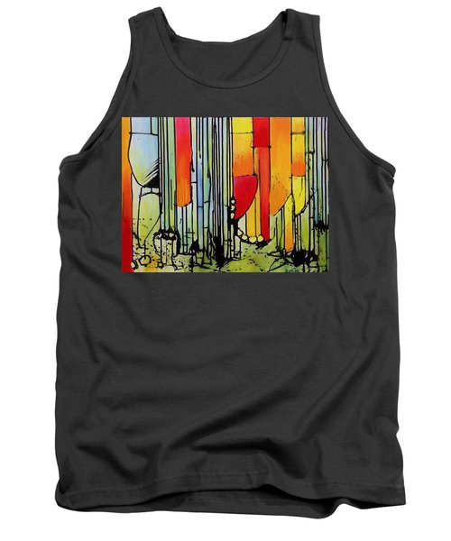 Tank Top featuring the painting Anger Serves No Purpose by Jason Williamson