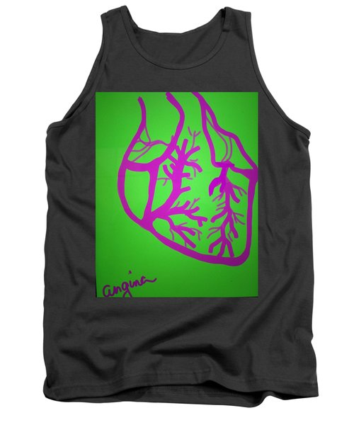 Tank Top featuring the digital art Angina by Erika Chamberlin
