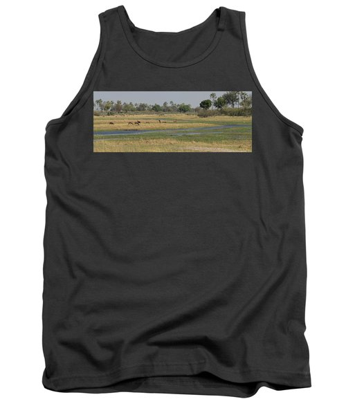 Animals In A Forest, Moremi Game Tank Top