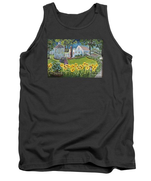 Tank Top featuring the painting Annie's Summer Cottage by Rita Brown