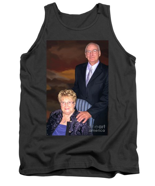 Tank Top featuring the painting Anniversary Portrait by Tim Gilliland