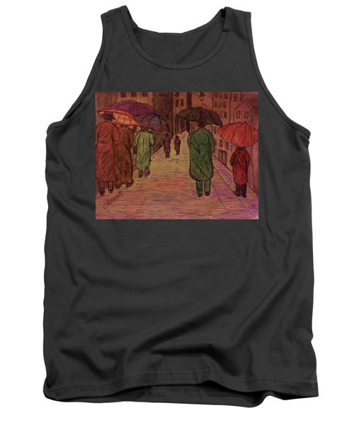 Another Walk In The Rain Tank Top by Christy Saunders Church