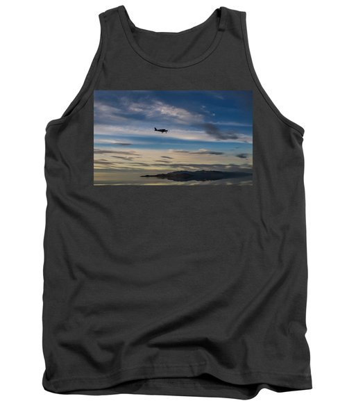 Tank Top featuring the photograph Antelope Island - Lone Airplane by Ely Arsha