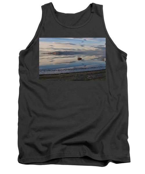 Tank Top featuring the photograph Antelope Island - Lone Tumble Weed by Ely Arsha
