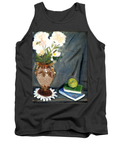 Antique Vase And Flower Tank Top by Michael Daniels