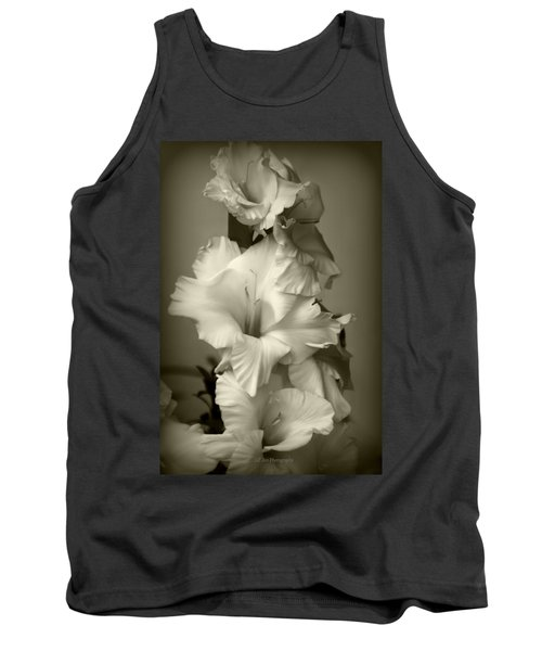 Antiqued Gladiolus Tank Top