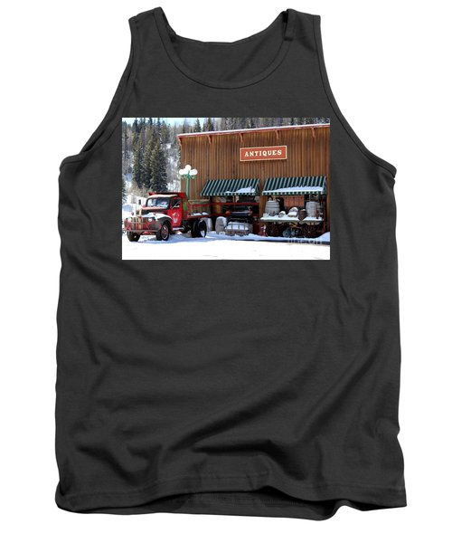 Antiques In The Mountains Tank Top by Fiona Kennard