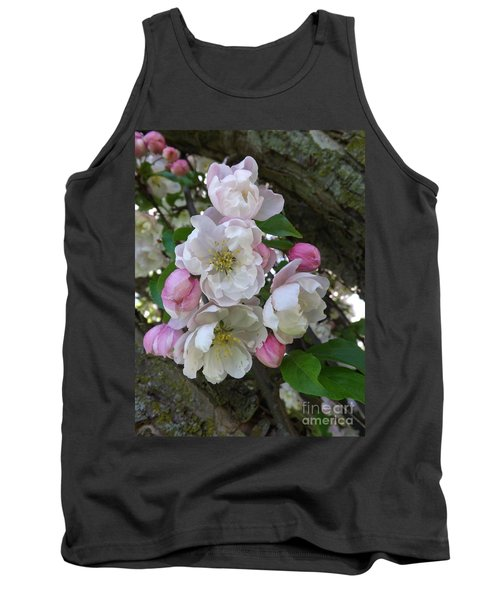 Apple Blossom Bouquet Tank Top by Sara  Raber