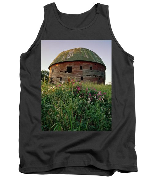 Arcadia Round Barn And Wildflowers Tank Top