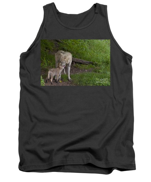 Arctic Wolf And Pup Tank Top