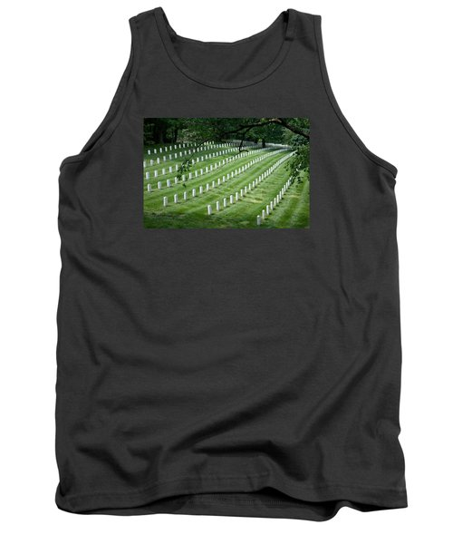 Tank Top featuring the photograph Arlington National Cemetery by Tim Stanley