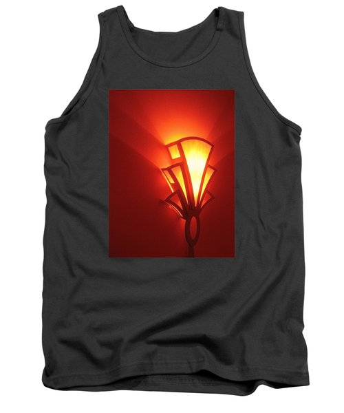 Tank Top featuring the photograph Art Deco Light Fox Tucson Arizona  Theater  2006 by David Lee Guss