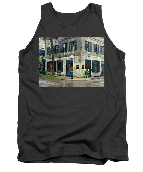 Tank Top featuring the photograph Art Gallery In The Rain by Rodney Lee Williams