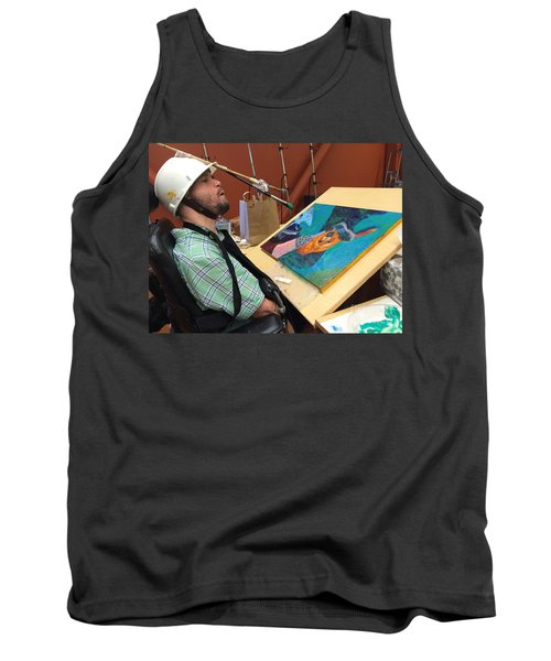 Artist Working Tank Top by Donald J Ryker III
