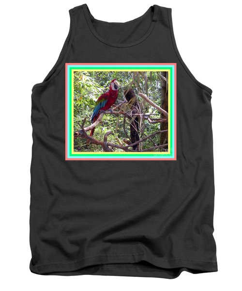 Tank Top featuring the photograph Artistic Wild Hawaiian Parrot by Joseph Baril